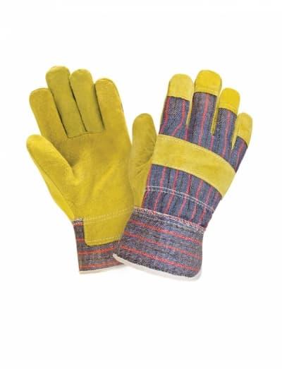 Спилковые комбинированные 2Hands 0115 желтые (СВSA)