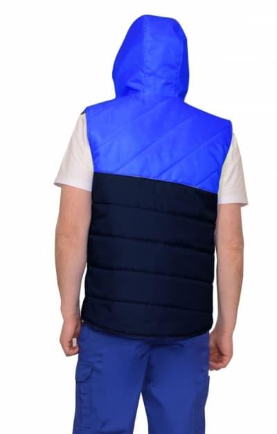 Жилет «ЭЛЬБРУС» утепленный, васильковый с синим