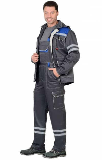 Костюм «ЛИДЕР» куртка, п/к серый с молочным