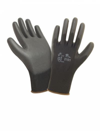 Перчатки нейлон с полиуретаном Air 2101BLK
