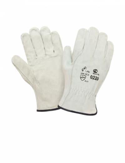 Спилковые перчатки серые Siberia 0220GR