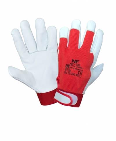 Перчатки с кожей регулируемые