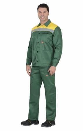 "Костюм ""СИРИУС-СТАНДАРТ"" : куртка, брюки,зеленый"