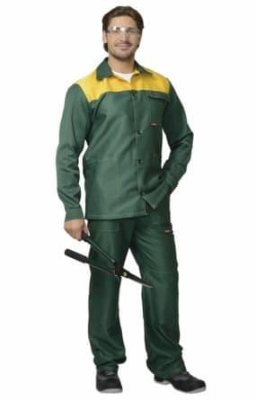 "Костюм ""СИРИУС-Стандарт"" куртка, брюки, зеленый с желтым"