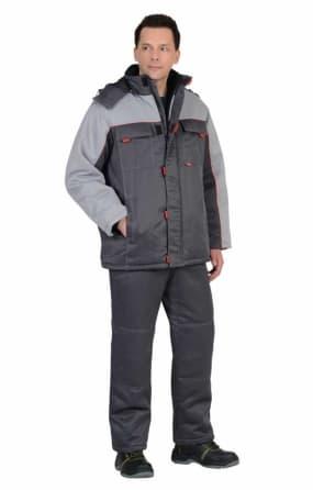 """Костюм """"ФАВОРИТ"""" зимний: куртка длинная, брюки тёмно-серый с серым"""