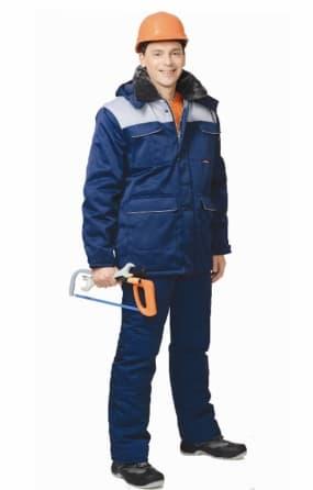 """Костюм """"СИРИУС-Профессионал"""" куртка, брюки, тёмно-синий с серым"""