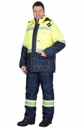 Костюм сигнальный зимний «ТЕРМИНАЛ» куртка с полукомбинезоном