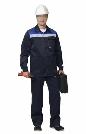 "Костюм ""СИРИУС-Стандарт"" куртка, брюки, синий с серым"