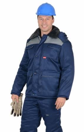 """Куртка """"ПРОФЕССИОНАЛ"""", цвет темно-синий с серым"""