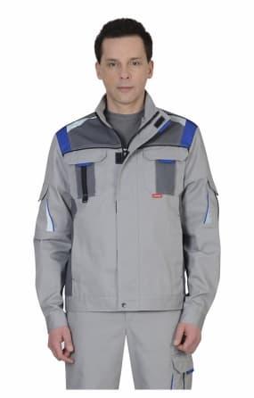 """Куртка """"СИРИУС-СТАН"""" светло-серая с серым"""