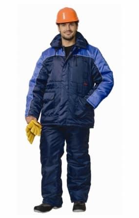 "Костюм ""СИРИУС-Рост-Норд"" куртка, брюки, темно-синий с васильковым"