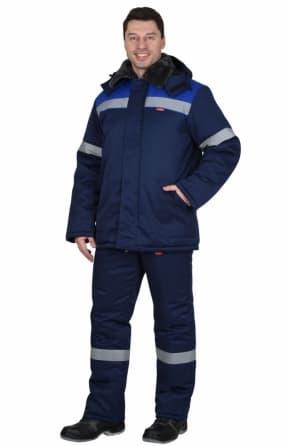 """Костюм """"Рост-Арктика"""": куртка, брюки, синий с васильковым и СОП 50мм"""