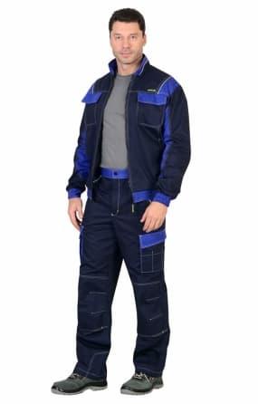 """Костюм """"КАРАТ"""" куртка с брюками синий с васильковым"""