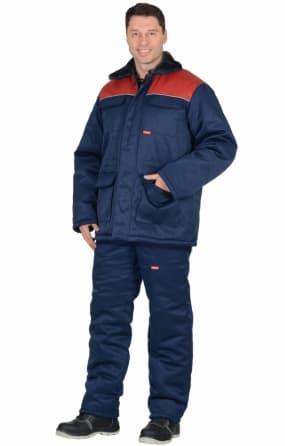 """Костюм """"Рост-Гретта"""" куртка, брюки, синий с красным"""