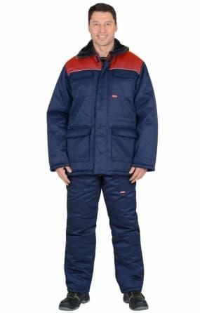 """Костюм """"Рост-Гретта"""" куртка, полукомбинезон, синий с красным"""