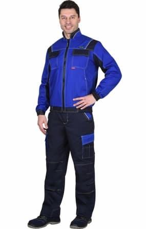 """Костюм """"КАРАТ"""" куртка с брюками, васильковый с синим"""