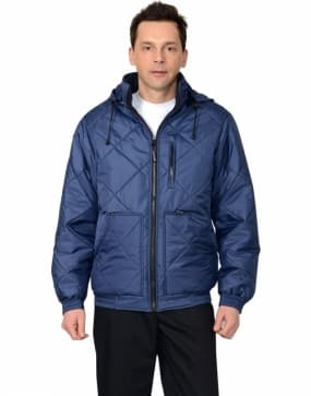 Куртка рабочая зимняя «Прага-Люкс», цвет синий
