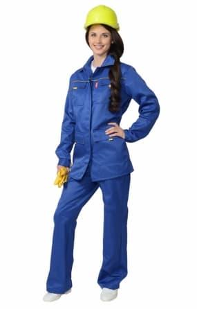 Костюм рабочий женский «Ударница» с полукомбинезоном